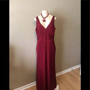 J Crew red evening gown size 16, 100% Silk